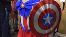 The Avengers and Sailor Senshi teamed up to make Captain Moon! Cosplay by Sapphire Nova