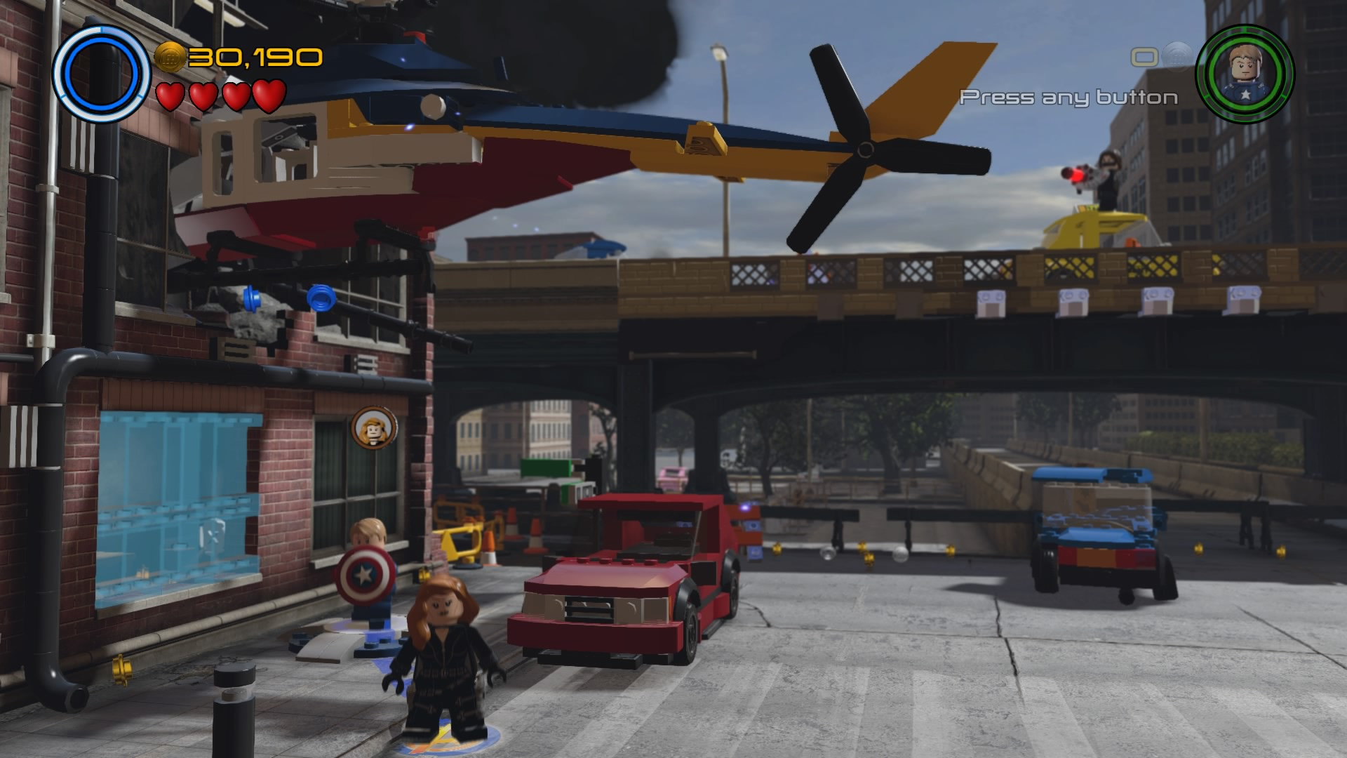 LEGO Marvels Avengers Walkthrough Walkthroughs The Escapist - Giant lego vehicles have been appearing on the streets of ancient rome