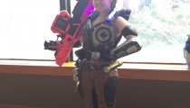 Cog, with her weapon to boot (Gears of War).