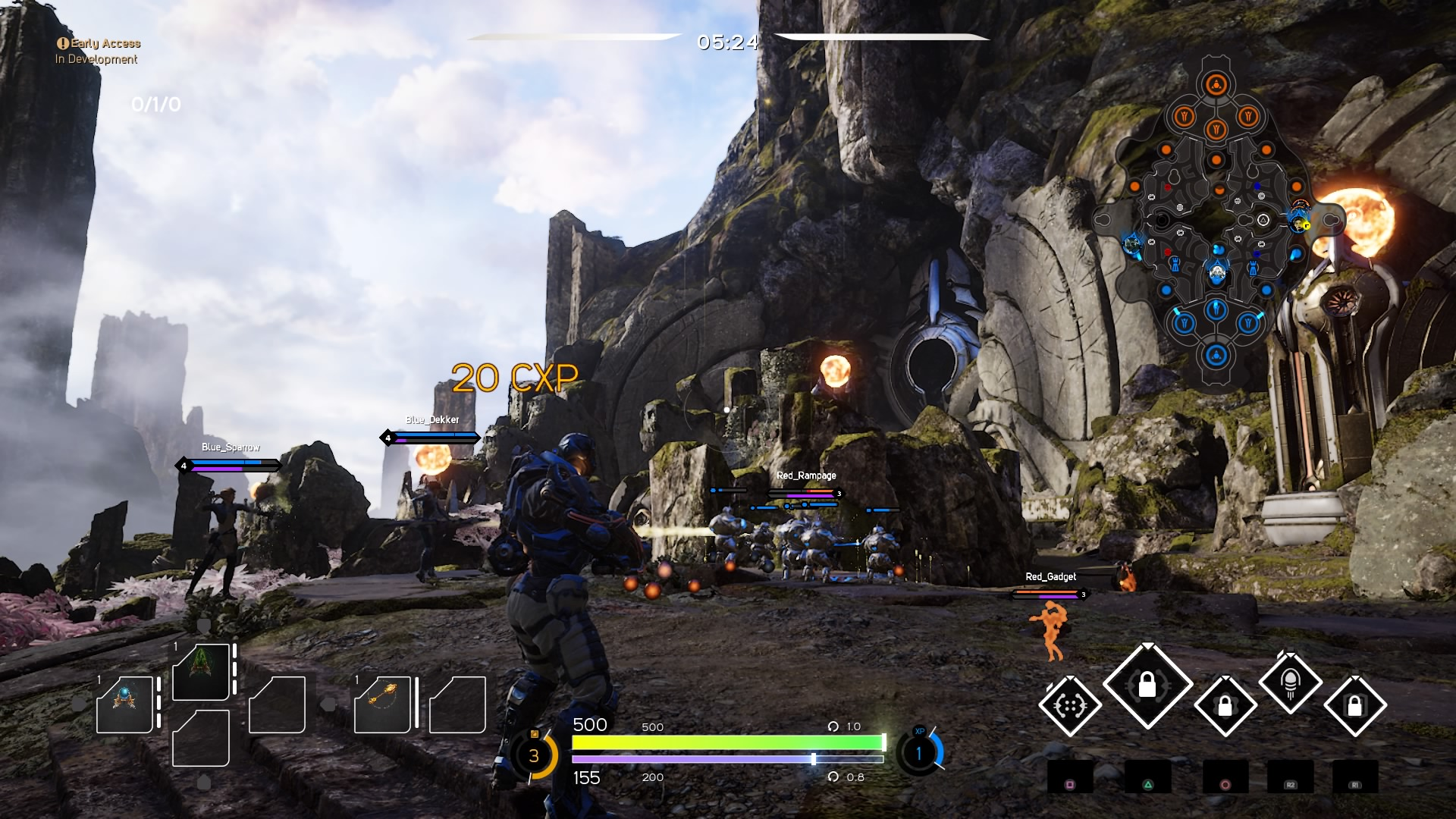 Paragon: Agora Map & Heroes Roster Gallery