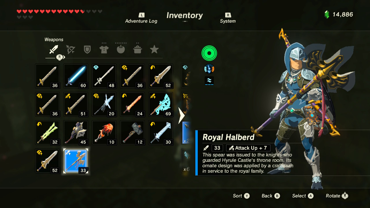 Best Weapons In Breath Of The Wild >> Legend of Zelda: Breath of the Wild - How to Get Royal Weapons Early | Best Weapons Guide ...