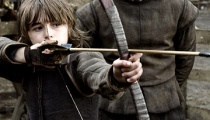 Isaac Hempstead-Wright as Bran Stark and Kit Harrington as Jon Snow