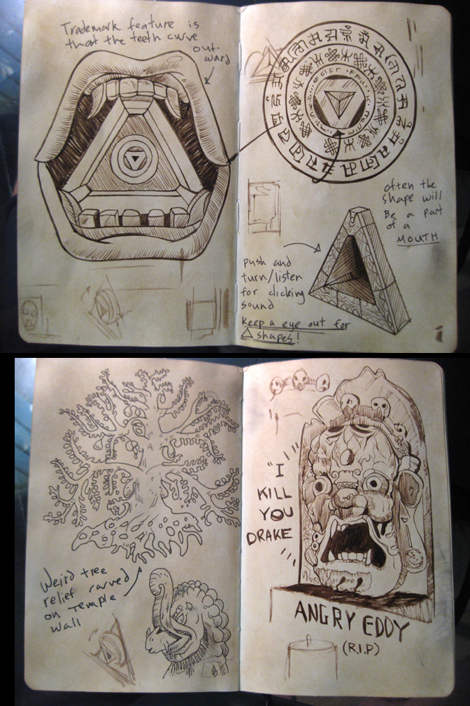 The Room Game Journal Sketches