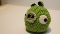 Crocheted Angry Birds Pig, from Mannie Ross