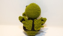 Amigurumi Cthulhu plush w/ Desert Bus shirt, from Melissa