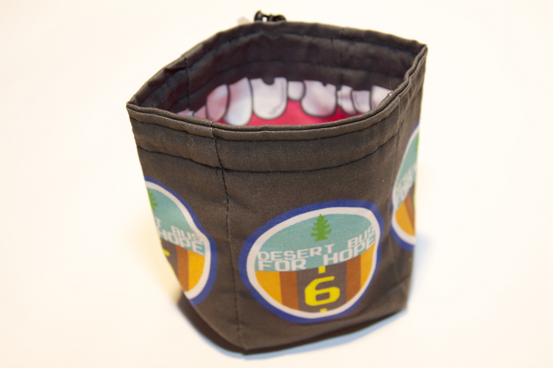 Desert Bus 6 dice bag, from Dragon Chow Dice Bags.