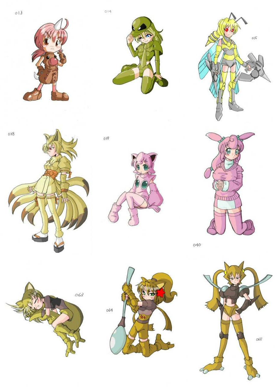 artist turns all 493 pokemon into cosplaying girls