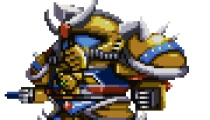 Sprite art, a la Super Robot Wars.
