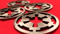 Imperial insignia coasters, by Apocalypse Fabrication on Etsy.