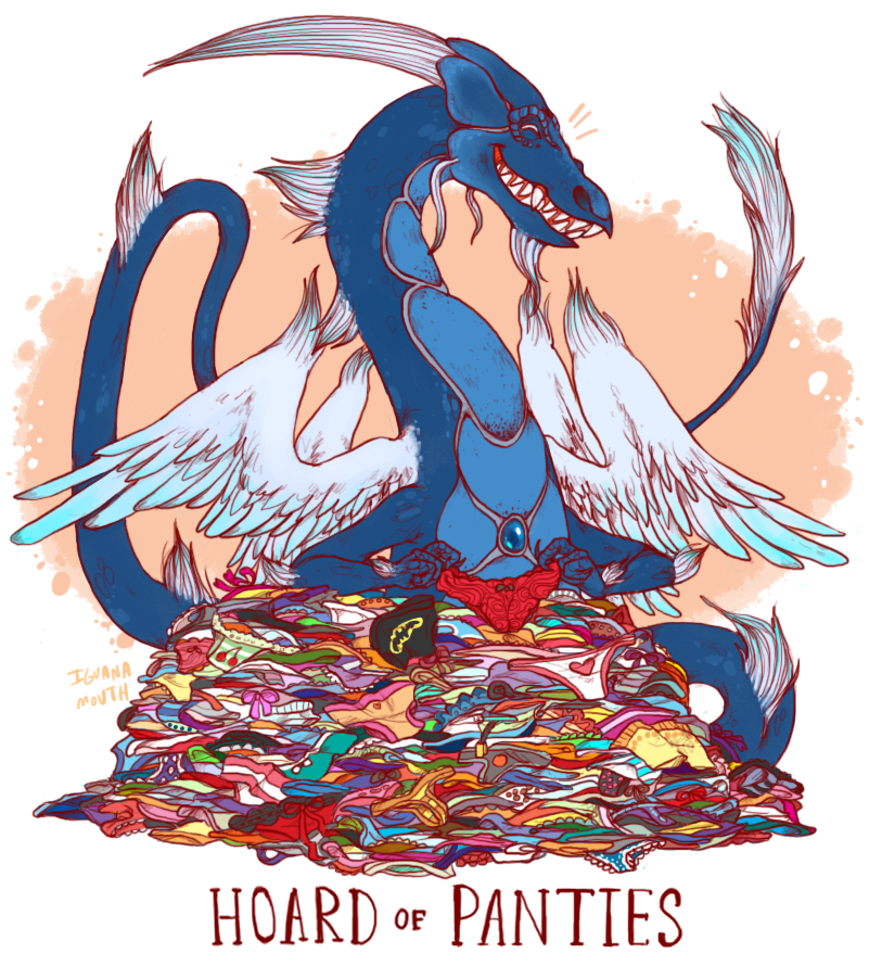 """Uncommon Dragon Hoards by Lauren """"iguanamouth""""."""
