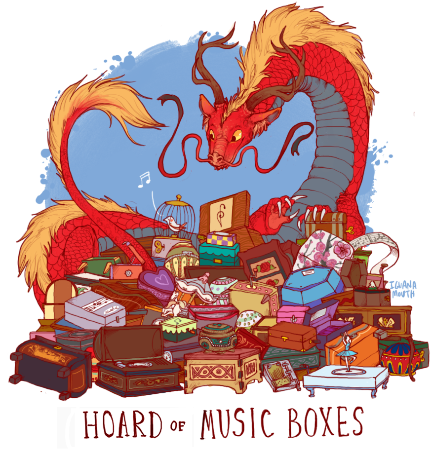 "Uncommon Dragon Hoards by Lauren ""iguanamouth""."