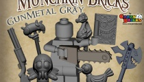 Gunmetal grey accessories from CrazyBrick's Munchkin Bricks Kickstarter.