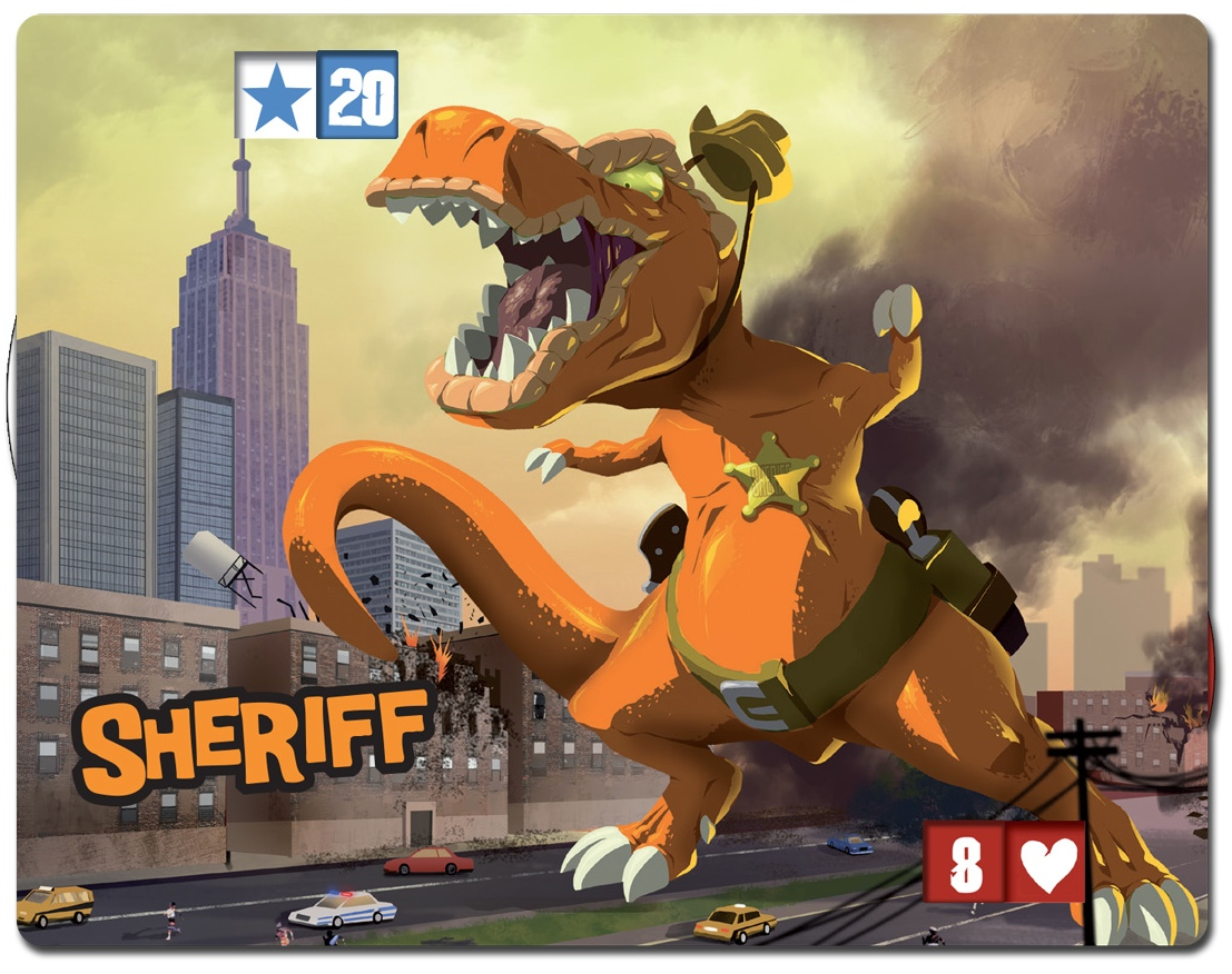 Sheriff, monster in King of New York, published by IELLO.