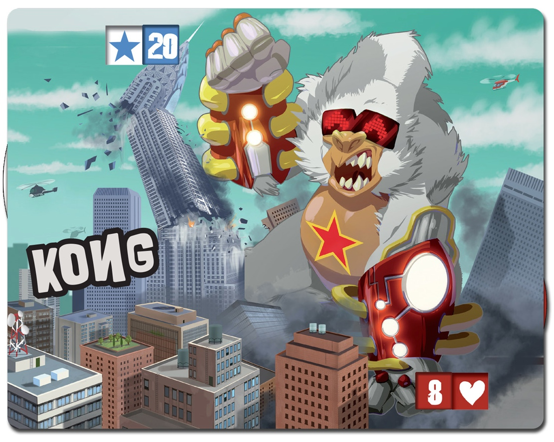 Kong, new monster in King of New York, published by IELLO.