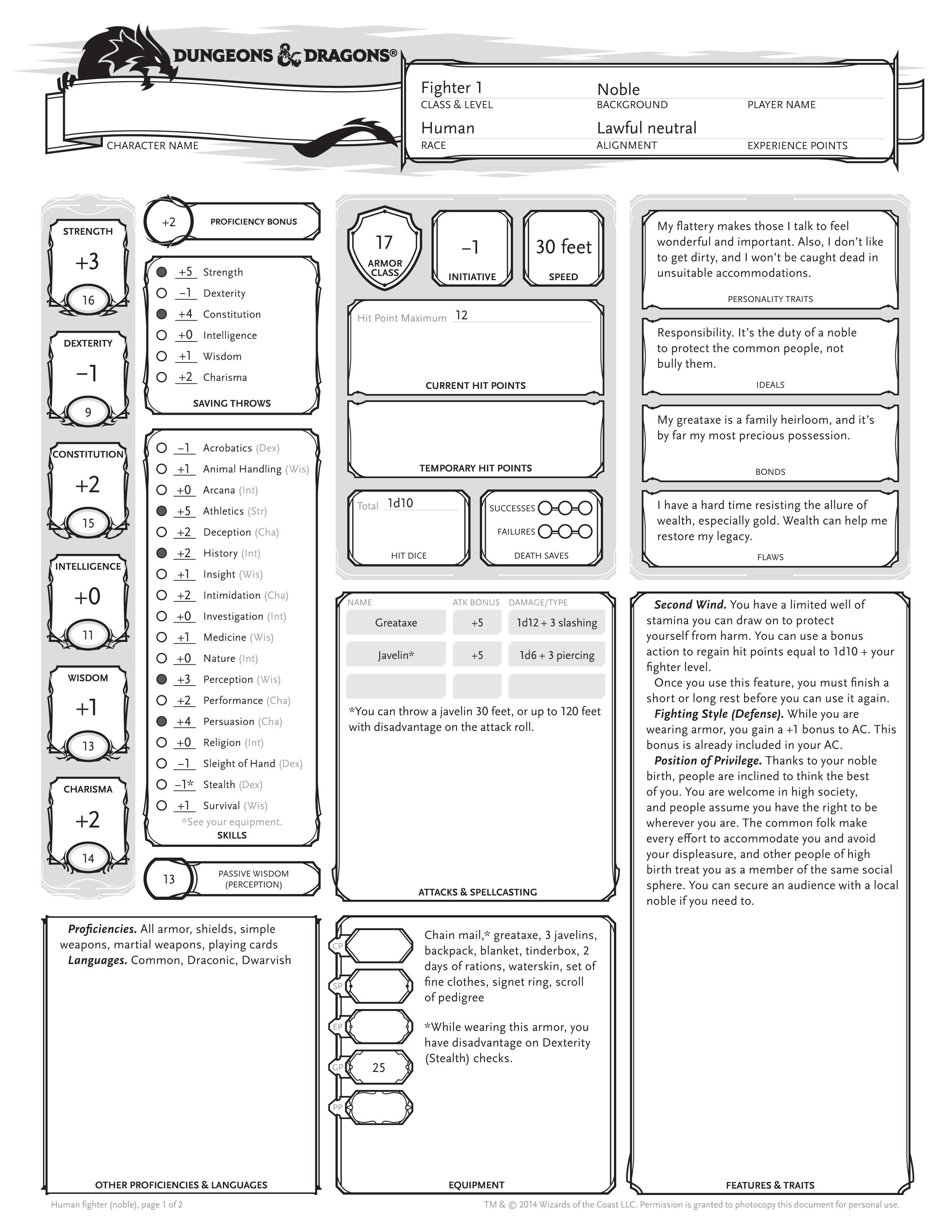 dungeons and dragons character sheet Dungeons and dragons game is a fantasy game in this role-playing game, you had different kinds of character sheets with the help of character sheets, you can play this game and you can tell a story to your friends.