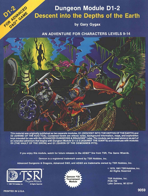 Everything you need for 1st edition dungeons and dragons