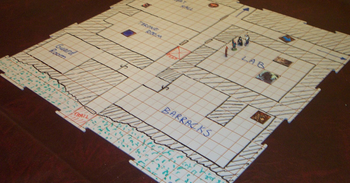 Agile image with printable d&d grid