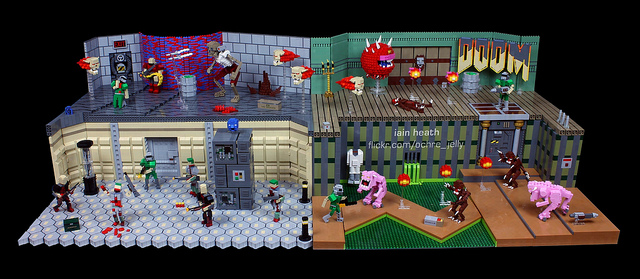 LEGO Doom Diorama Delivers Epic Brick Demons