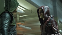 Stephen Amell as The Arrow and Colton Haynes as Arsenal. Photo: Cate Cameron/The CW.