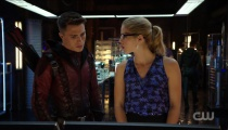 Colton Haynes as Roy Harper and Emily Bett Richards as Felicity Smoak. Photo Credit: The CW.