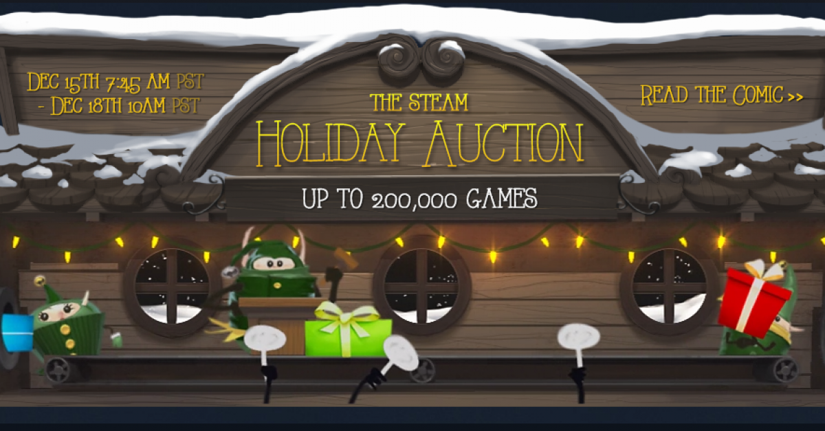 Steam Holiday Auction at a Halt After Suspected Exploits - Update