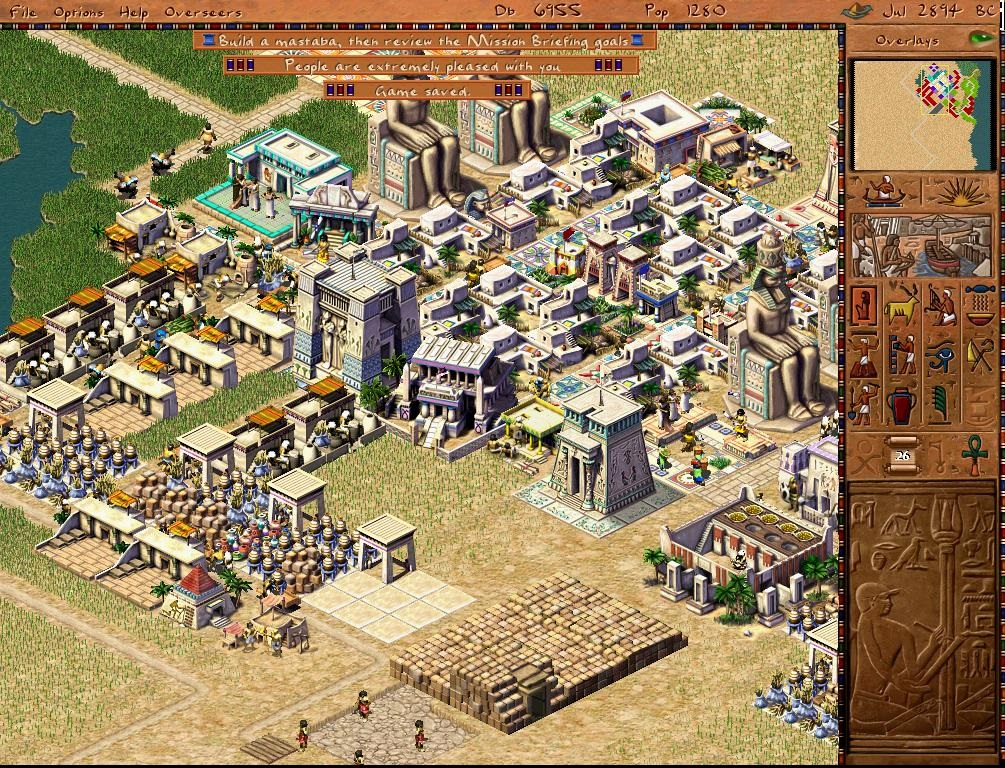 Good old reviews pharaoh good old reviews the escapist for Best builder construction