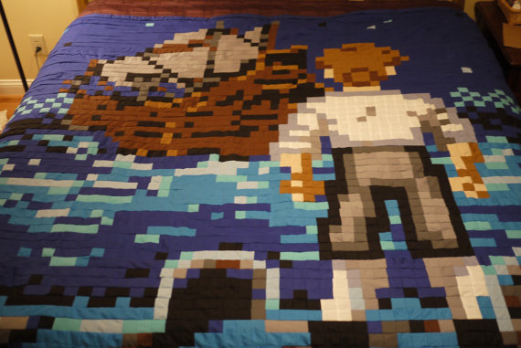 Quilter Creates Amazing Video Game Inspired Bedding The