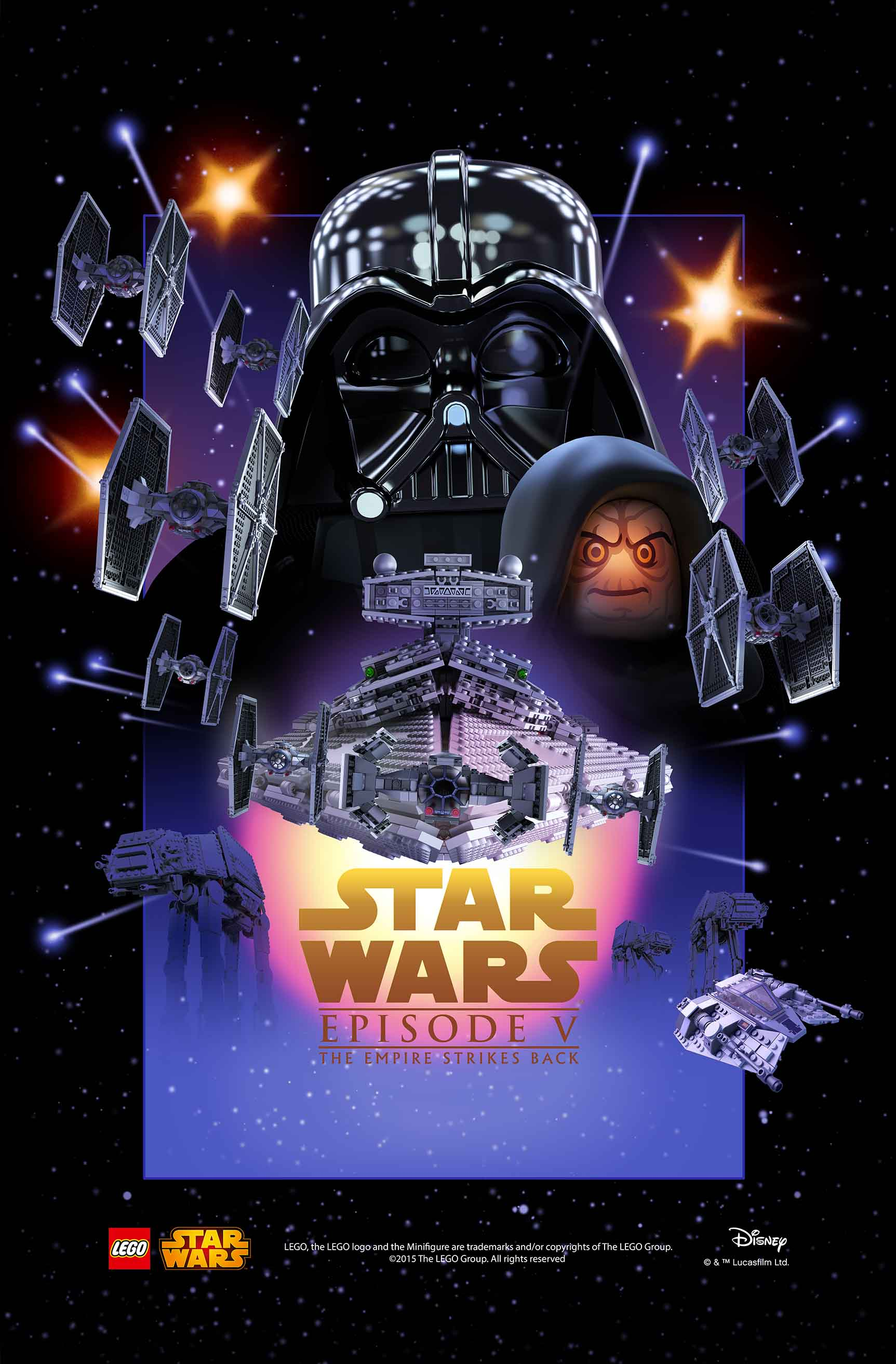 star wars movie posters get the lego treatment the escapist. Black Bedroom Furniture Sets. Home Design Ideas