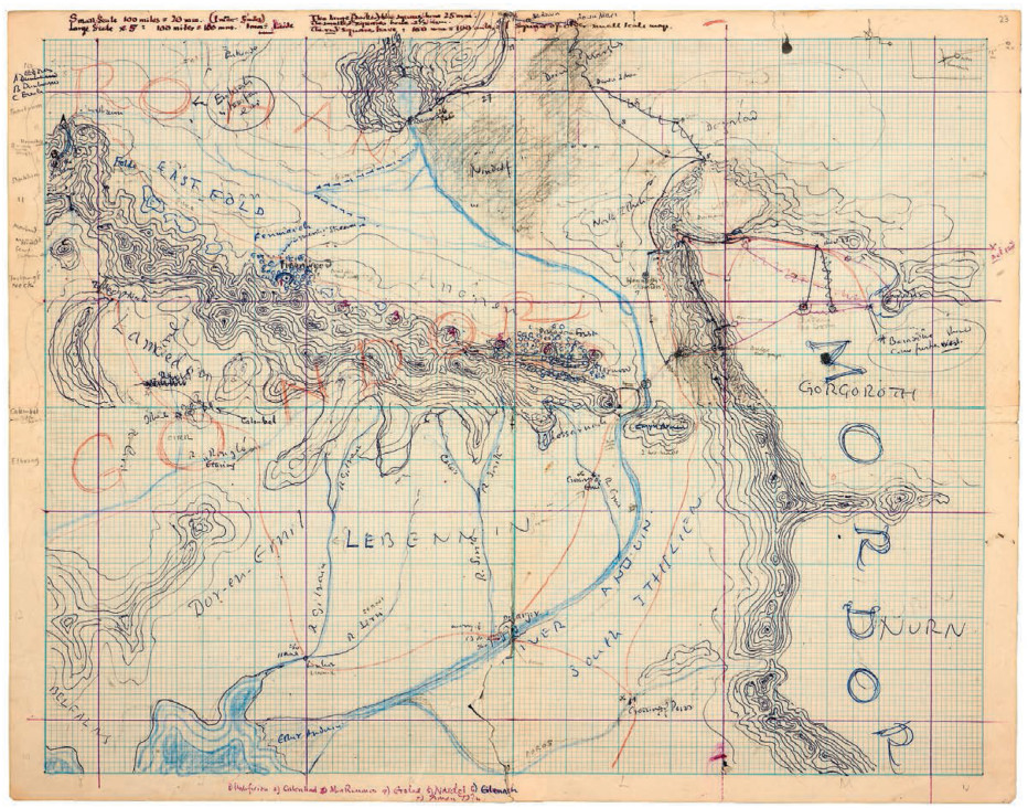 check out these previously unreleased drawings of jrr tolkiens middle earth the escapist
