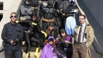 Of course there was no shortage of Batmen.