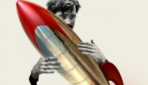 What are you looking at? I'm just stroking my rocket.