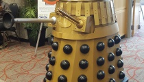 A fully-functioning Dalek - complete with voice synthesizer - patrolling the con floor. Thankfully it wasn't in an exterminating mood.