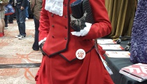 Black Butler's Madam Red, having seemingly set aside her Jack the Ripper hobby for the event.