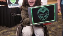 This young Oracle was easily one of my FCCC favorites, adding a few simple touches to her wheelchair to become the iconic character. And her joy was enthusiastic!