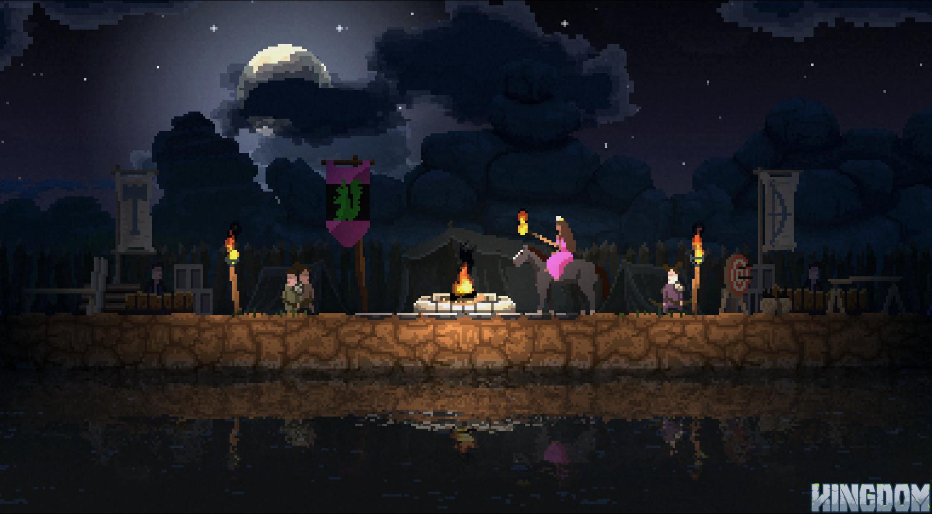 Kingdom Review Raw Fury Pixel Art Horseback 2D Strategy ...