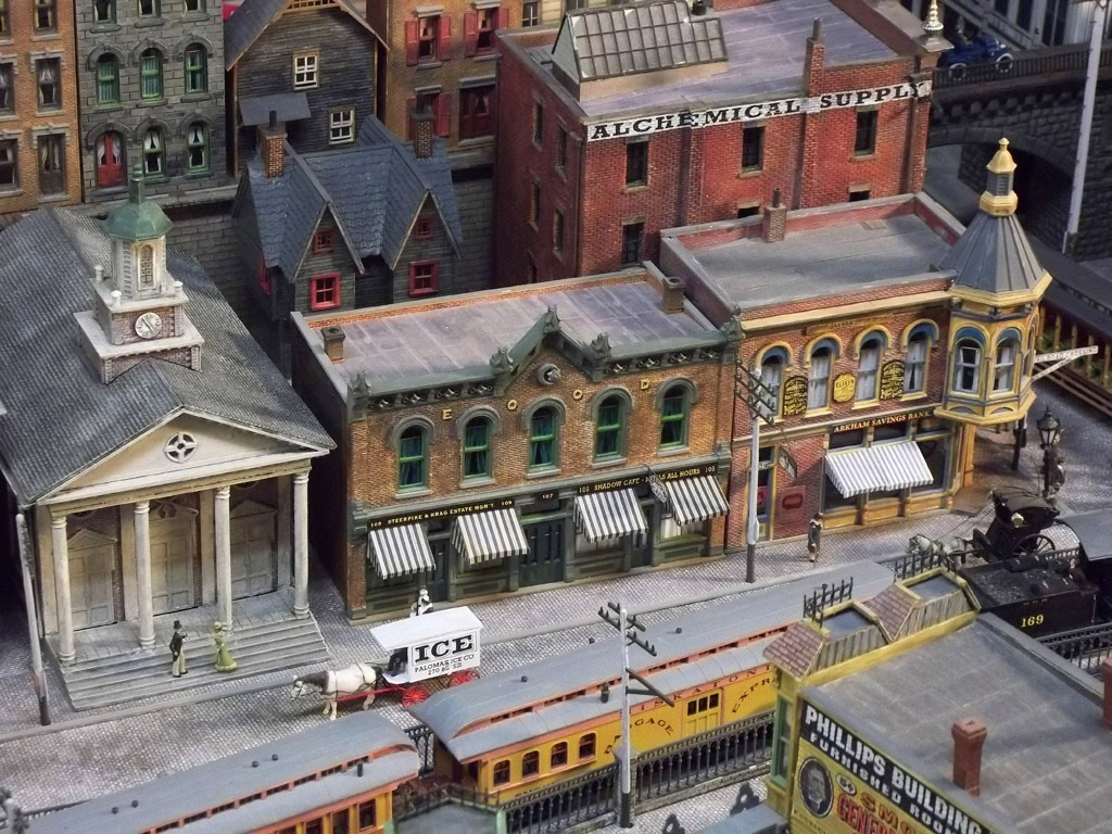 Model Train Enthusiast Builds H P Lovecraft S Arkham In