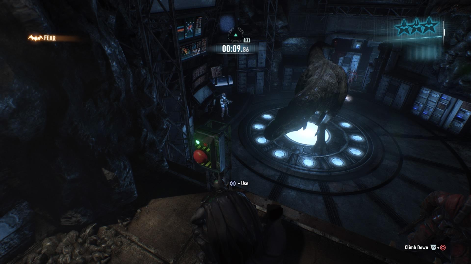 Batman Arkham Knight Secret Room Amp Animatronic Dinosaur