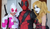 Gwenpool, Deadpool, and Harley Quinn, some of comics' funniest supers decided to show up!