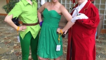 Peter Pan, Tinkerbell, and Captain Hook by White Crystal Cospaly