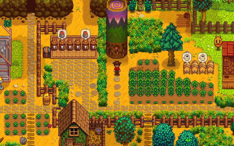 Stardew Valley's 1 1 Update Adds Farm Layout Options, New Buildings