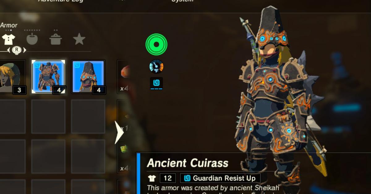Legend Of Zelda Breath Of The Wild Best Armor Sets Locations Guide Walkthroughs The Escapist