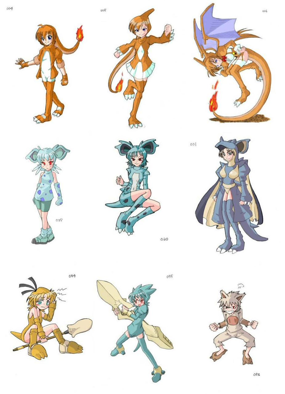 All The Girls Standing In The Line For The Bathroom: Artist Turns All 493 Pokemon Into Cosplaying Girls