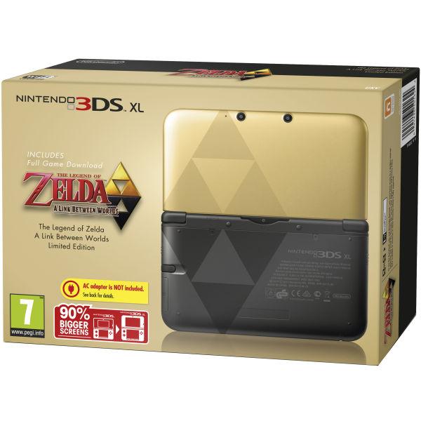 Nintendo 3ds xl the legend of zelda limited edition gold handheld.