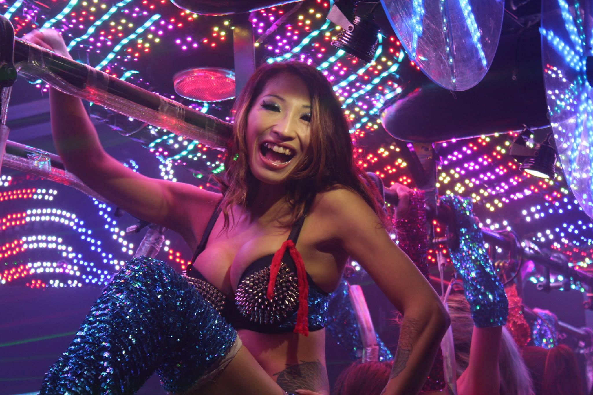Asian girl in club