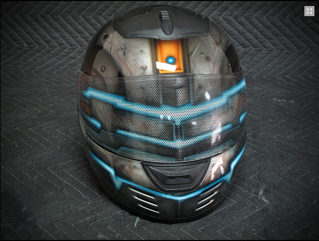 Dead Space Motorbike Helmet Lets You Ride In Style The