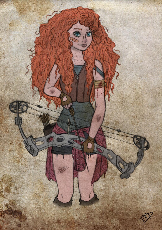 Fan Art Puts Disney Characters In A Zombie Apocalypse