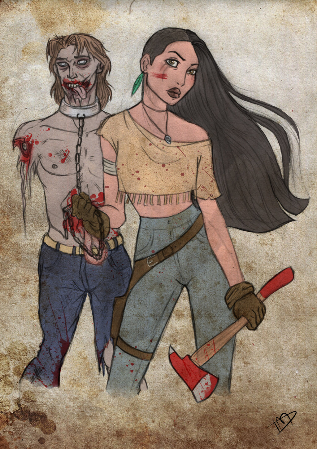 Fan Art Puts Disney Characters in a Zombie Apocalypse | The