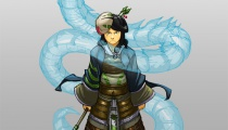 Based on the prompt:  Axe, Short, Glum, Japanese, Snake. Art by Sean Ng, aka dogbomber on Tumblr.