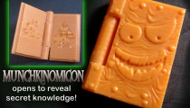 Prototype Munchkinomicon from CrazyBrick's Munchkin Bricks Kickstarter.