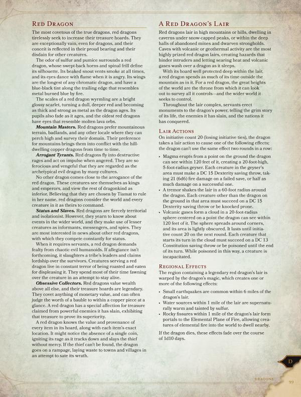 D&D 5th Edition Monster Manual Manticore Revealed | The Escapist